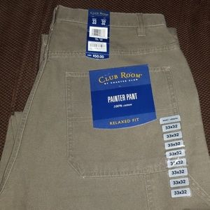 CLUB ROOM by Charter Club PAINTERS PANT W33 L32